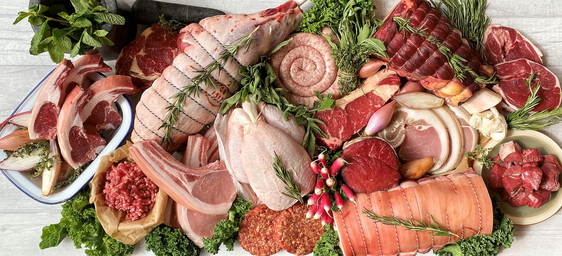 independent butcher meat counter